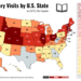 Library Visits by U.S. State